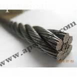 Acero inoxidable de malla anudada por cable