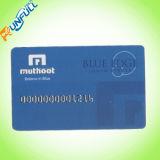 Cartão plástico da impressão de Offest com listra desobstruída/branca da assinatura
