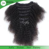 De onverwerkte Klem van het Menselijke Haar in Haar 100% Maagdelijk Haar Remy voor Zwarte