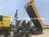 Semi-remolques del carro de vaciado de la buena calidad de China 3 árboles