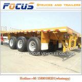 China die de Vlakke Aanhangwagen van de Vrachtwagen van de Container van het Bed vervaardigen