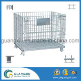 Стальные складные клетка ячеистой сети и корзина хранения для шкафа паллета