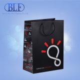 Черный мешок для упаковки подарков бумаги