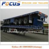 Cimc 12m Längen-Flachbett-LKW-halb Schlussteil für Massenkleber-Transport