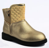 2017 детей золото обувь девочек в нескольких минутах ходьбы ботинки для детей из натуральной кожи
