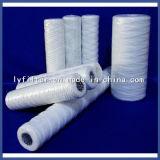 La cadena del alambre del algodón hiere el cartucho de filtro de 10 micrones con la longitud 254m m