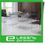 Ясная таблица Tempered стекла обедая с Veneer древесины золы