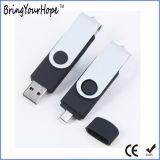 Impressão personalizada de logotipo Mobile disco flash USB OTG (XH--001USB OTG)