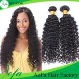 Encierro natural humano brasileño del pelo de la Virgen profunda de la onda de la calidad de Hight