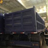 세 배 차축 후방 기울이는 팁 주는 사람 덤프 트레일러 60 톤