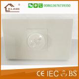 Commutateurs électriques de mur de commutateur de régulation de la vitesse des ventilateurs