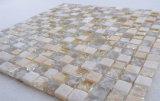 El cuarto de baño decorativo Fondo facetas elegantes baldosas mosaico de vidrio