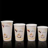 Taza de papel impresa 8oz de la alta calidad para la consumición del café