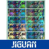 Sticker van uitstekende kwaliteit van het Hologram van de anti-Vervalsing van de Douane van het Effect van de Laser de Permanente Zelfklevende