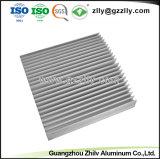 Novo Design em alumínio prateado Anodize Perfil para material de construção