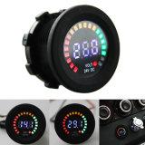 Monitor da bateria do voltímetro do calibre azul do barco do carro da C.C. 12V da indicação digital do diodo emissor de luz auto