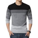 2017の新しい秋の冬の方法ブランドの偶然のセーターO首によって縞で飾られる細く適当な編むメンズセーターおよびプルオーバーの人のプルオーバーの人M-5XL