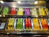 Mini congelador de la visualización del escaparate del fabricante de helado de Gelato