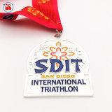 Medaglia internazionale dello smalto dell'argento 999 di placcatura del Triathlon