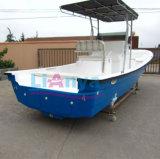 Liya 25FT Panga fabricant de bateaux Bateau de pêche en fibre de verre avec remorque