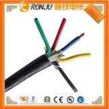 Fio flexível isolado PVC de cobre da potência do núcleo