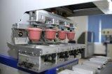 Impresora semiautomática de la pista de cuatro colores con el transportador
