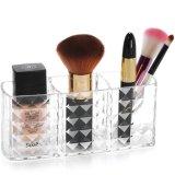 Duidelijke Acryl Drie van de Make-up van de Borstel van de Organisator van het Potlood Koppen Opslag van de Houder van de Kosmetische