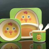 Heißer Verkaufs-Bambusfaser-Kind-Essgeschirr-Set