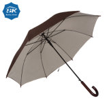 Hölzernes Griff-Automobil-geöffneter doppelte Schicht-gerader Regenschirm