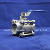2PC Stainless Steel Female Thread ball valve with LOCK
