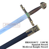 Espadas medievais da decoração das espadas das espadas da película 110cm HK81016cu