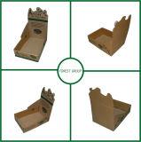 주문을 받아서 만들어진 브라운 물결 모양 전시 상자