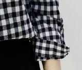 OEM 형식 여자 원인이 되는 격자 무늬의 셔츠