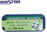 Alta calidad MIM mini Roth. 022 corchete ortodóntico de los ganchos de leva 345