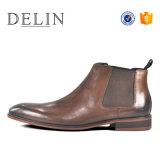 Les hommes les plus populaires Chelsea bottes Souliers en cuir pour hommes occasionnels
