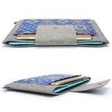 Wolle-Neopren-innerer Notizbuch-Laptop-Hülsen-Beutel-Kasten-tragender Griff-Beutel