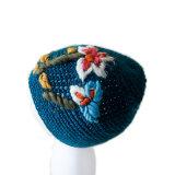 Gorrita tejida de acrílico vendedora caliente del bebé de 2017 del ganchillo de la flor subordinados del sombrero