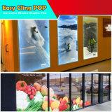 Utilizado para la película movible del animal doméstico blanco de cristal del anuncio de la ventana de la calle