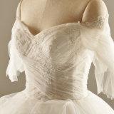 A luva curta peroliza o vestido de casamento do vestido nupcial de Tulle