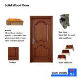Porte d'entrée principale de bois solide porte double avec le matériel standard