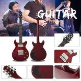 Exotische dargestellte Ahornholz Archtop feste Langspielplatte-elektrische Gitarre für Verkauf