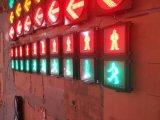 카운트다운 타이머를 가진 빨강 & 녹색 동적인 횡단보도 신호등