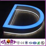 La lettre d'éclairage LED illuminée pour extérieur allument la mémoire de marque