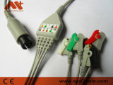 Mindray direktes Goldway schließen einteiliges ECG Kabel mit Leitungsdrähten an