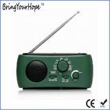 Lampe torche 3 LED-FM/AM/Sw Manivelle dynamo solaire Radio (XH-FM-016)