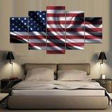 Indicador moderno de los 5 paneles de las pinturas enmarcadas pared del arte de la lona de la impresión del arte de Estados Unidos HD para el cuadro de la pared de la sala de estar