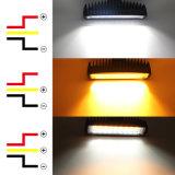 Новые оптовые Двухцветный Super ярко желтого цвета Белый свет водонепроницаемый 6,3 дюйма 30W вилочный погрузчик Osram светодиодный индикатор рабочего освещения для погрузчика