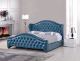Кровать кожи отдыха самомоднейшей конструкции мебели спальни