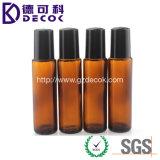 bernsteinfarbige Glasflaschen des duftstoff-10ml mit Rolle auf Metallkugel