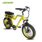 常州Aimosのアルミ合金フレームのペダルの補助脂肪質のタイヤの電気バイク